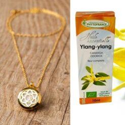 collier diffuseur calicea + huile essentielle d'ylang ylang bio