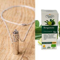 Collier diffuseur Cocoonea + huile essentielle de Bergamote Bio