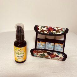 pochette de rangement huiles essentielles - détente et beauté - la coquette
